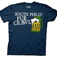 It's Always Sunny in Philadelphia South Philly Pub Crawl Navy Adult T-shirt