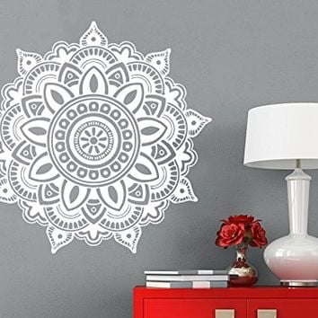 Wall Decal Mandala Vinyl Sticker Decals Lotus Flower Yoga Namaste Indian Ornament Moroccan Patern Om Home Decor Art Bedroom Design Interior C69