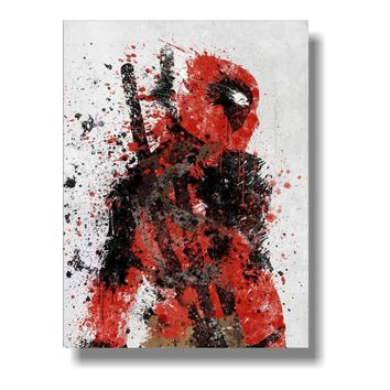 Deadpool Dead pool Taco Custom poster Funny Superheroes Comic Movie Poster  Wade Wilson Silk posters Marvel Wallpaper Cafe decoration picture AT_70_6