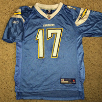 Sale!! Reebok San Diego CHARGERS Football Jersey NFL tee shirt