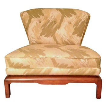 Pre-owned Vintage Hollywood Regency Slipper Chair