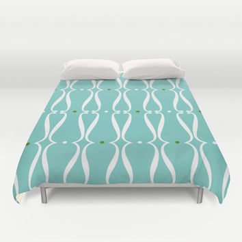 Waves and Dots Duvet Cover by Susan Weller