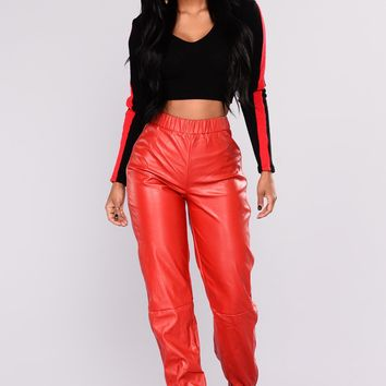 Angela Pants - Red Day-First™