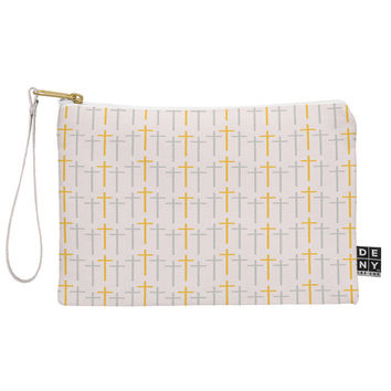 Allyson Johnson Yellow Cross Pouch