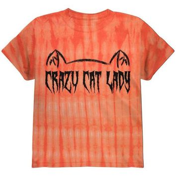 DCCKJY1 Halloween Crazy Cat Lady Youth T Shirt
