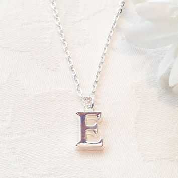 Custom Initial Necklace Initial Letter Necklace Bridesmaid Necklace Bridesmaid Jewelry Necklace Wedding