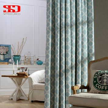 Modern Geometric Lantern Linen Curtains For Living Room Blind Blackout Drapes For Bedroom Window Shade Panel Fabric Custom Size