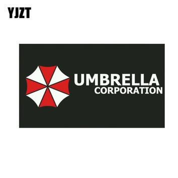 YJZT 14CM*8.2CM Car Sticker RESIDENT EVIL UMBRELLA CORPORATION Lnterest Reflective Car Window Decal C1-7540