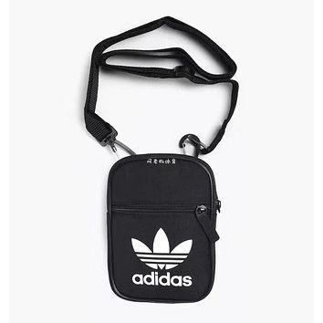 Adidas Trending Women Men Casual Canvas Purse Shoulder Bag Crossbody Black I-A30-XBSJ