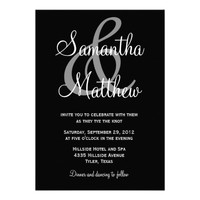 Modern Shades Ampersand Wedding Invitations