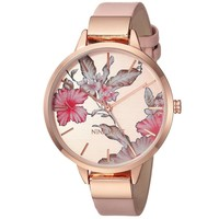 Nine West Floral Rose Goldtone Watch