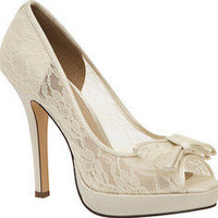 Brianna Leigh Queen - Ivory Silk Satin - Free Shipping & Return Shipping - Shoebuy.com