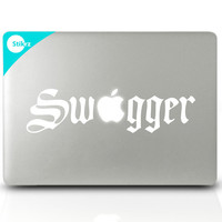 MACBOOK DECAL Old Spice Guy art vinyl laptop sticker computer decal wall stickers mac geekery- Swagger- Removable Decal 116