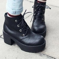 90s lace up grunge punk rock platform ankle boots style2 from mancphoebe