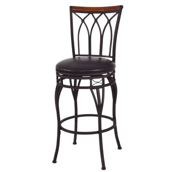"Giantex Vintage Swivel Bar Stool 24"" 28"" Height Adjustable Padded Seat Bistro Pub Chair HW54180"
