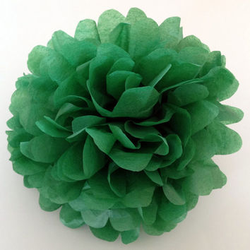 18 inch large Vibrant Green pompom,party poms,birthday pompoms,Firstbirthday,baby shower,hanging poms,nursery poms, pompoms,party decoration