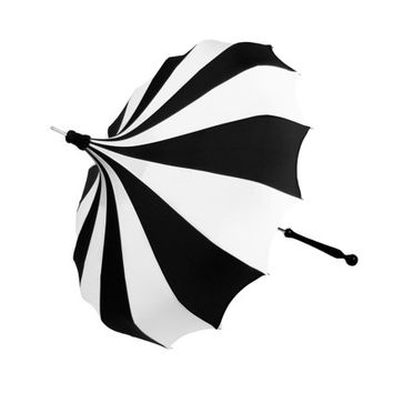 The Original Bella Umbrella Pagoda Umbrella - Black & White