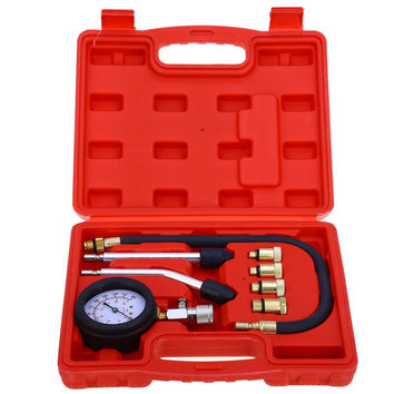 New Rapid Type Pressure Gauge Tester Kit Motor Auto Petrol Gas Engine Cylinder Compression Gauge Tester Tool Car Diagnostic Tool