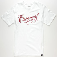 Kr3w Los Originales Mens T-Shirt White/Red  In Sizes
