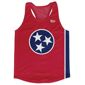 Tennessee State Flag Running Tank Top Racerback Track and Cross Country Singlet Jersey