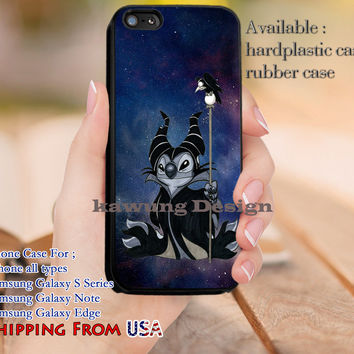 Stitchficent Lilo and Stitch Maleficent iPhone 6s 6 6s+ 5c 5s Cases Samsung Galaxy s5 s6 Edge+ NOTE 5 4 3 #cartoon #animated #disney #Lilo&Stitch #maleficent dl10