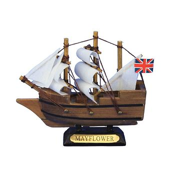 Wooden Mayflower Tall Model Ship 4""