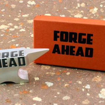 Vilmain Pewter - Forge Ahead Paper Weight