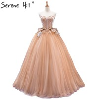 Sexy Strapless Ball Gown Wedding Dress Beading Pearls Photography Princess Wedding Gowns