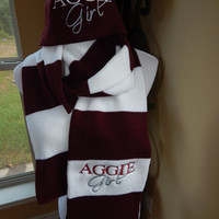 Aggie Girl Scarf and Beanie Set - Ready to SHIP
