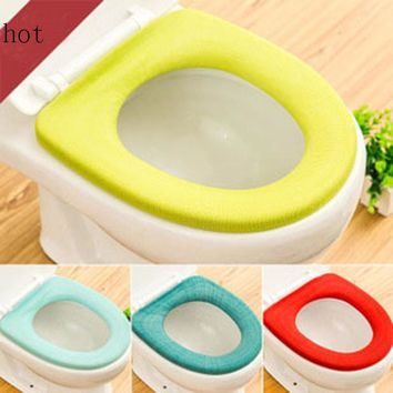 Bathroom Toilet Soft Seat Closestool Cover Washable Warmer Mat Cover Pad Cushion