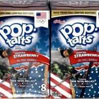 Kellogg's Pop-tarts Frosted Strawberry Go USA Edition- 2014 Team USA Limited Edition- Box of 8 Pastries (2 Pack)