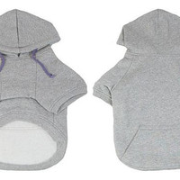 Dog T-shirt dog clothes sports apparel Gray