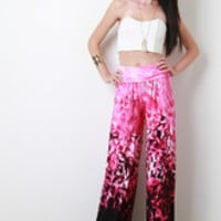 Women's Abstract Print Palazzo Pants