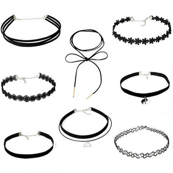 Stylish Shiny New Arrival Gift Jewelry Accessory Simple Design Chain Set Lace Necklace [10688604487]