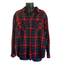 Lumbersexual Men Flannel Shirt Red Flannel Shirt 90s Grunge Flannel Shirt Plaid Flannel Shirt Lumberjack Flannel Men Cotton Shirt Men Shirt