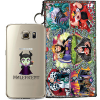 Disney's Villains (Maleficent) Jelly Clear Case For Samsung Galaxy S6 + Pouch