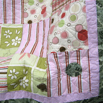 Shabby Chic Queen Quilt Patchwork With Pillow Shams
