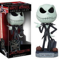 The Nightmare Before Christmas Jack Wacky Wobbler Bobble Head PVC Action Figure Collection Toy Doll