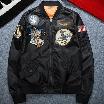 U.S. Air Force Fly Flight Jacket Embroidery Spring Autumn Retro Classic Men's Jacket
