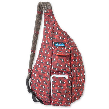 Monogrammed Kavu Rope Bags - Raccoon | Monogram Sling Bag | Gift for Her | Teens | Outdoors Satchel | Crossbody Tote