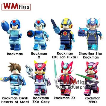 30PCS/LOT Megaman Adventure Time Sonic Super Heroes Anine Series Minifigs Brick Set Building Blocks Toys for Children Gifts