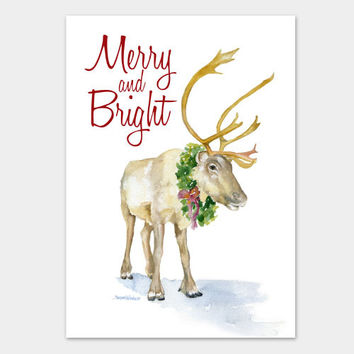 Reindeer Christmas Cards Set of 10