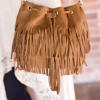 Fringe Benefits Satchel-Camel
