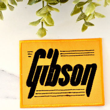 GIBSON GUITAR Iron on Patch