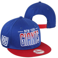 New York Giants New Era 9FIFTY Team Fade Snapback Hat - Blue
