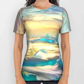 Crystal snow desert All Over Print Shirt by exobiology