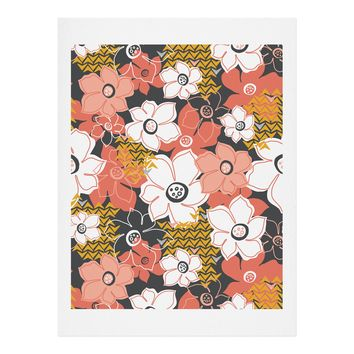 Heather Dutton Petals And Pods Lava Art Print