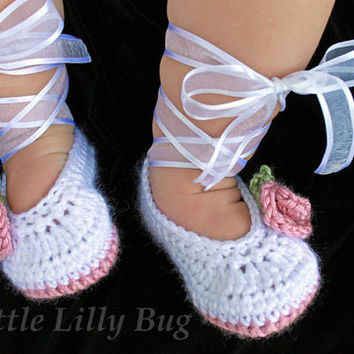 Girls pink cream knitted boots booties shoes 0-3-6-9-12 months