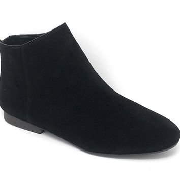 Lucky Brand Gaines Black Oiled Suede Booties