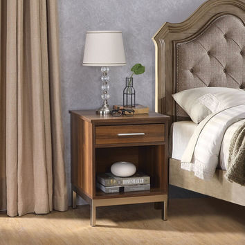 Acme 97476 Sterret II walnut finish wood nightstand bed side end table